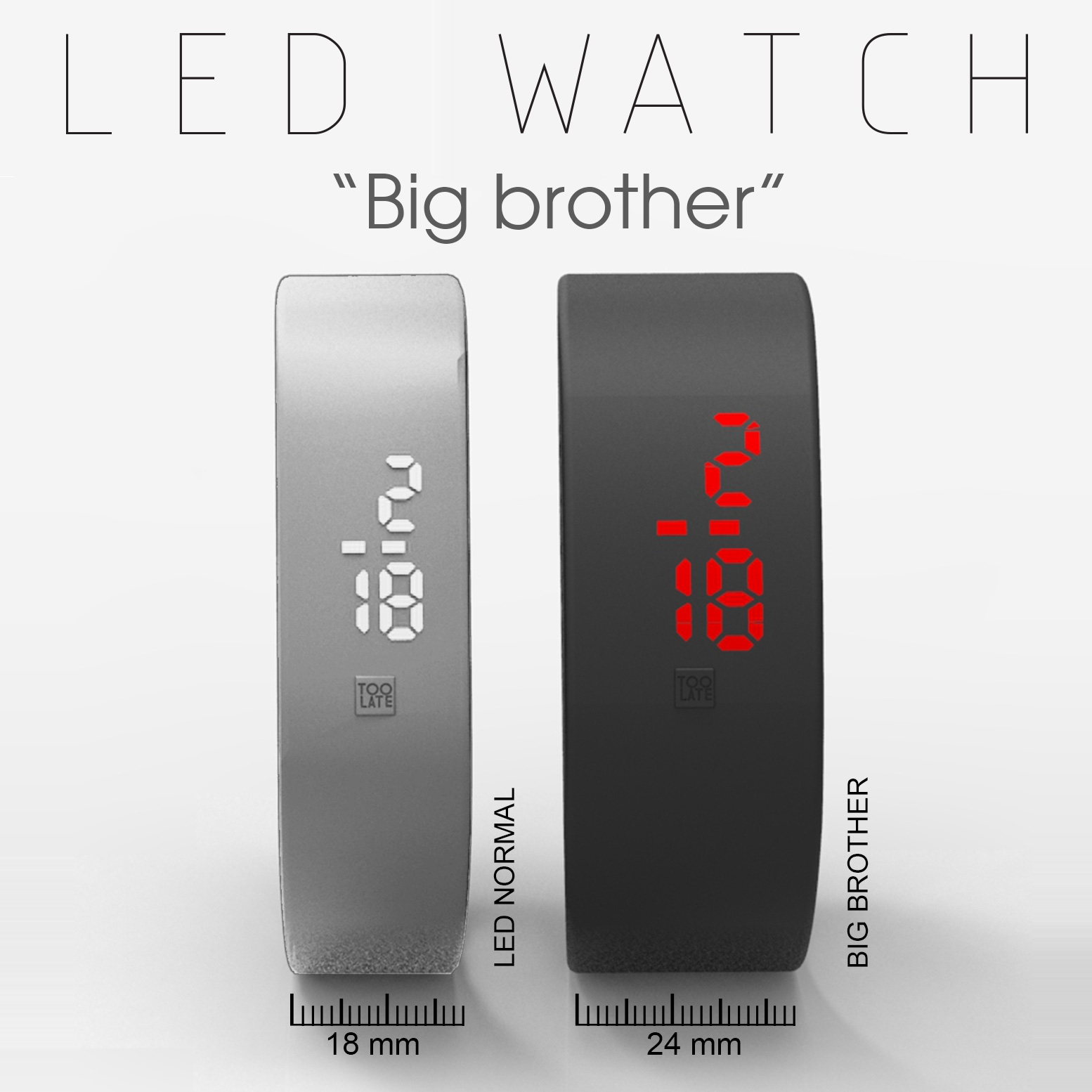 "Led watch ""Big brother"""